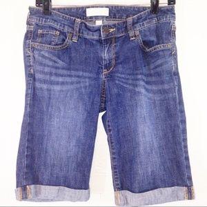 BANANA REPUBLIC Bermuda Cuffed Denim Jean Shorts